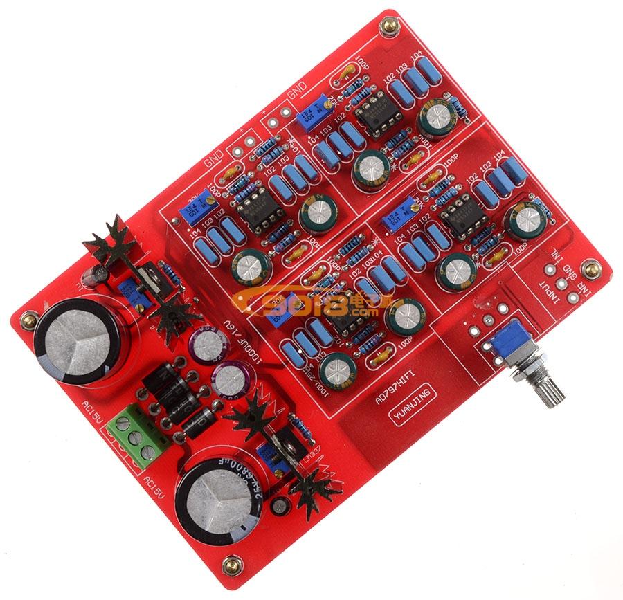 ne5534发烧功放前级放大板 前置成品板(仿德国mbl6010电路)12倍增益