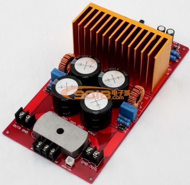 irs2092大功率d类双声道数字功放板成品板(500w 500w) 单声道btl 1000