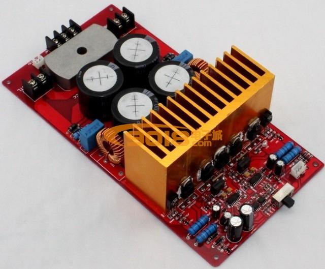 电路 功放板 irs2092大功率d类双声道数字功放板成品板(500w 500w) 单
