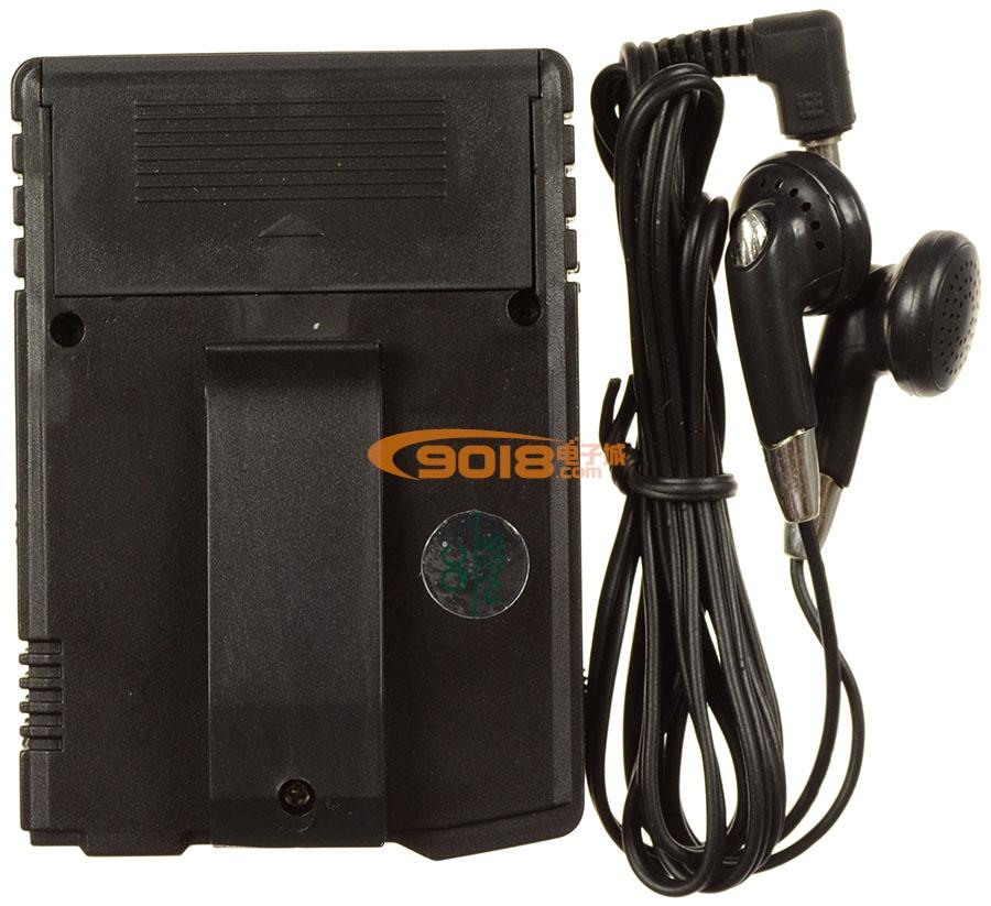 CXA1238M/CXA1538M BP机式调频收音机(连续可调)(无静噪)(立体声)该接收机体积只有BP机般大小,带腰扣,外形尺寸为8X5.5X1.5cm,接收集成采用CXA1238M及TDA7050T,含一级9018高频(天线)放大电路,可与调频立体声发射器配套,构成立体声无线音响系统,也可单独使用,接收调频广播,该机采用2节7号电池供电。从其耳机口可驳接外设扩音设备或录音设备。