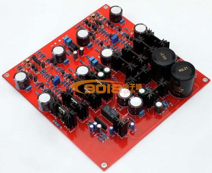 发烧音响 发烧电路 功放板 ksa-5 耳放板 耳机放大器成品板 带保护