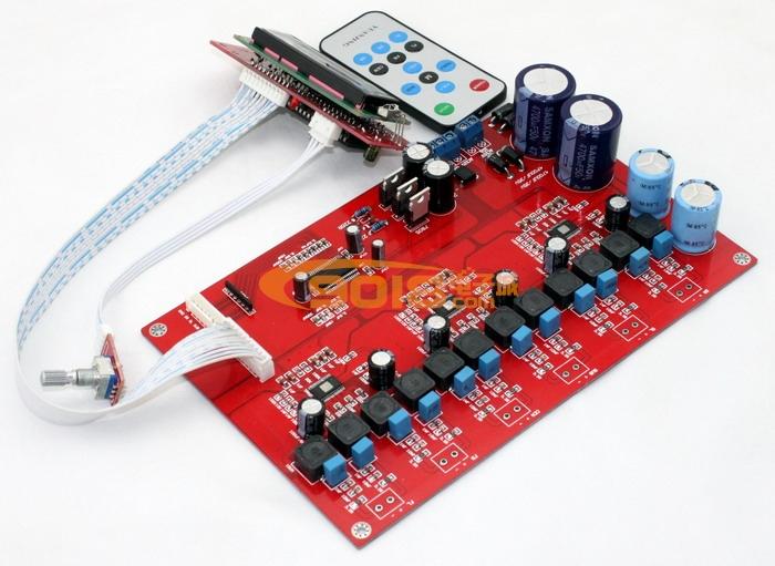 发烧音响 发烧电路 功放板 m62446 tpa3116六声道遥控d类数字功放板