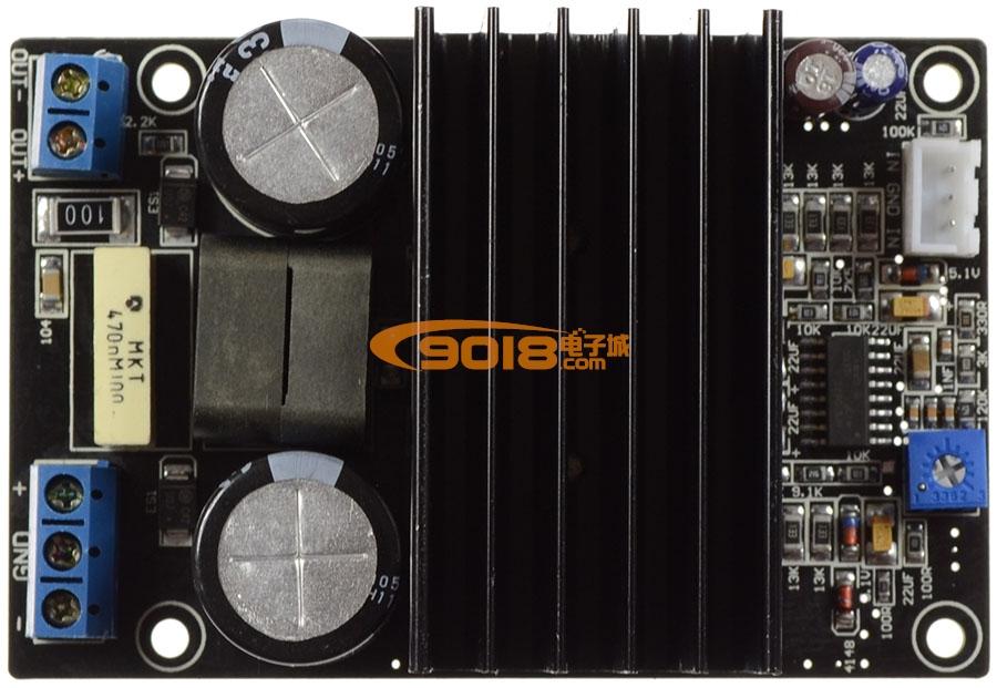 大功率irs2092+irfi4019单声道d类数字功放板