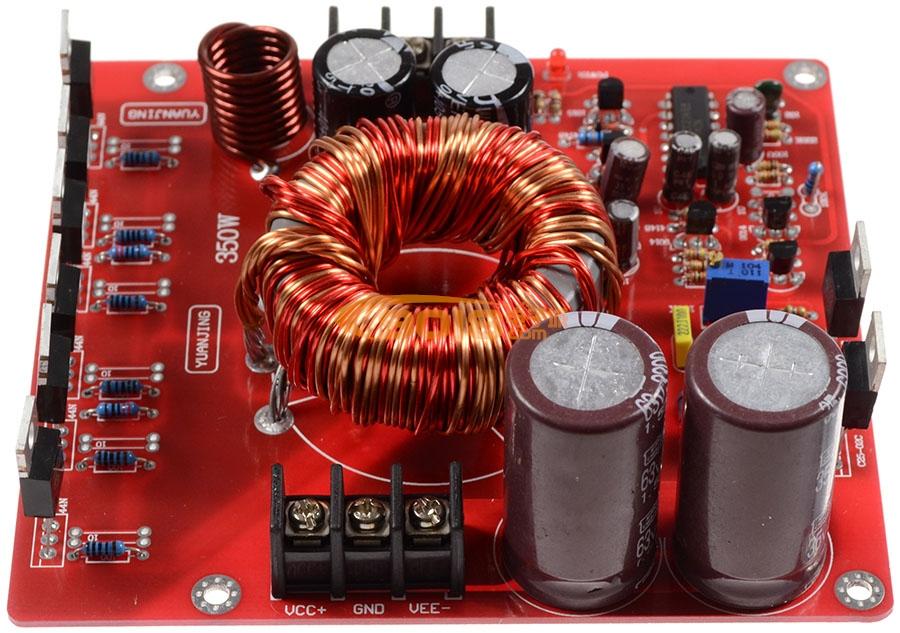 发烧音响 发烧电路 电源板 单直流dc12v转双20~28v升压板 350w功率