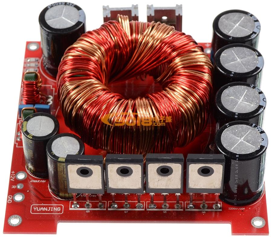 电路 电源板 500w单直流dc12v转双直流dc±45v升压电源板(适用汽车