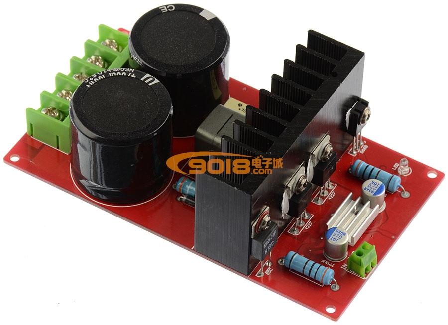 功率单声道d类数字功放板(直流dc±55v供电)350w/4欧