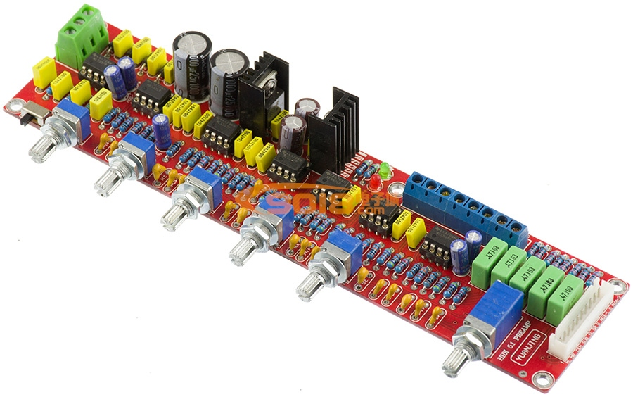 ne5532高保真发烧 hi-fi 5.1声道前级低通板 成品板 低音炮前级板