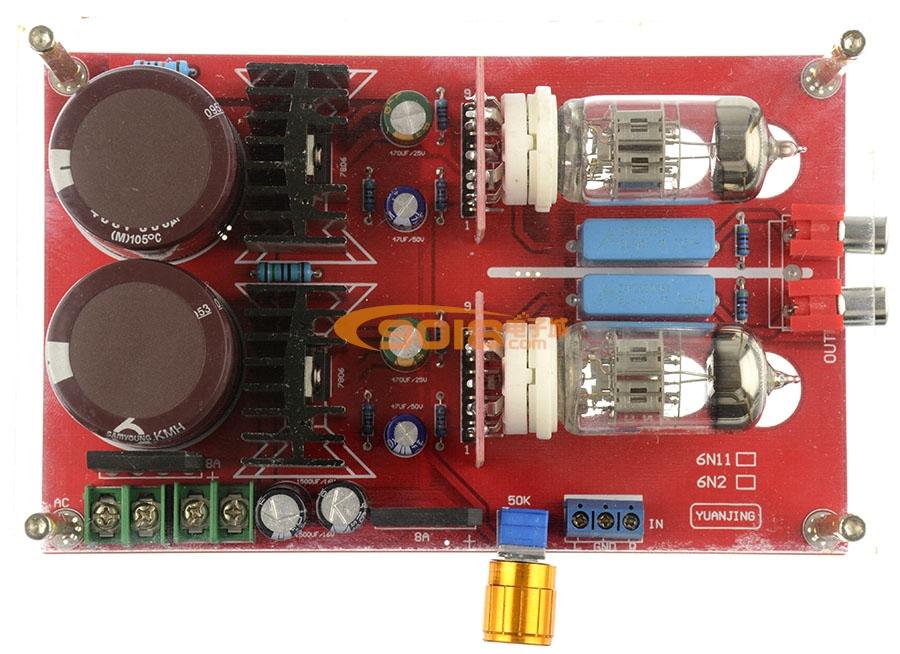 6n2电子管胆前级板 裸奔版 发烧功放前级