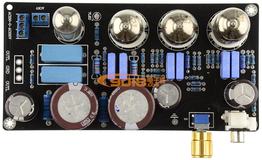 发烧胆味 6N4 电子管胆前级板(参考Maratz 7电路)功放前置放大板