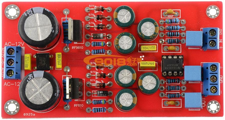 IRF9610+IRF610+NE5532 非平衡转平衡 BTL 功放前级板