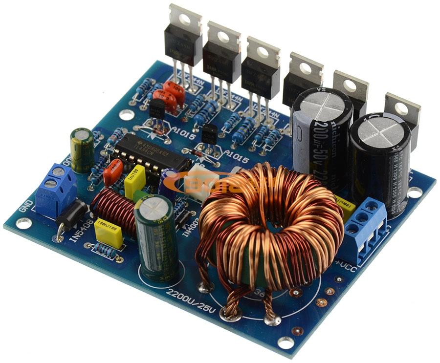 发烧音响 发烧电路 电源板 180w汽车功放升压开关电源板 单dc12v转
