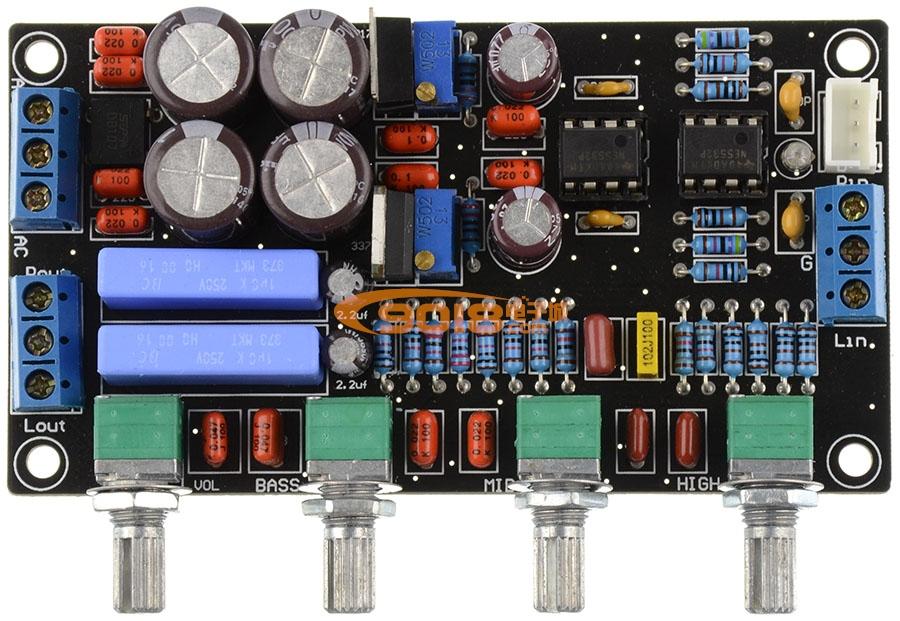 ne5532高保真发烧音调板 成品板 带ic座 2015升级豪华