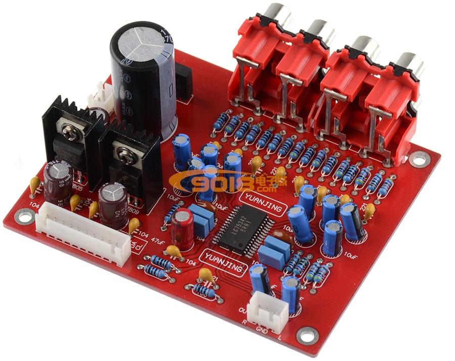 lc75342电子音调板 功放前置板