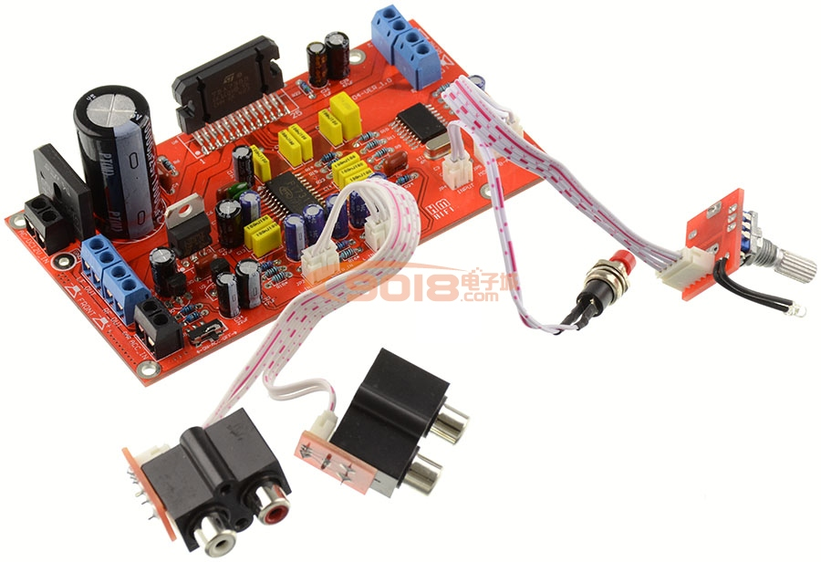 发烧音响 发烧电路 功放板 四声道带前级音调 tda7388汽车音响 车载