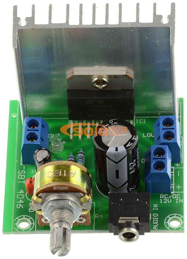 TDA7297数字功放板 双声道车载功放模块 直流单12V供电