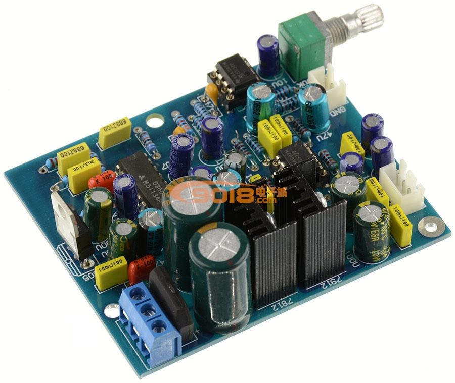 发烧电路 低通滤波板 m51134p+ne5532低音炮前级板
