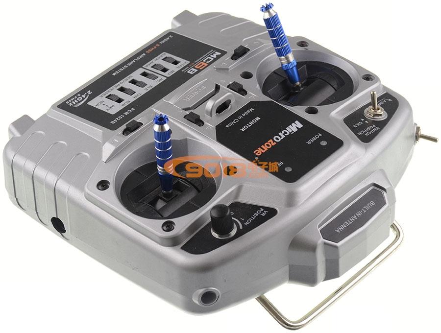 MC6B 2.4G六通道遥控器+接收机 美国手左手油门 航模多轴飞行器/无人机专用