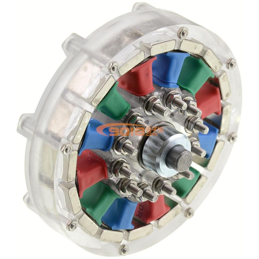胜利号模型_CNC版12N16P永磁外转子电机 交流三相同步电动机发电机 轮毂马达 ...