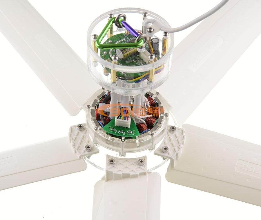 700mm直流无刷电机微型吊扇 蚊帐微风电扇 可无级调速