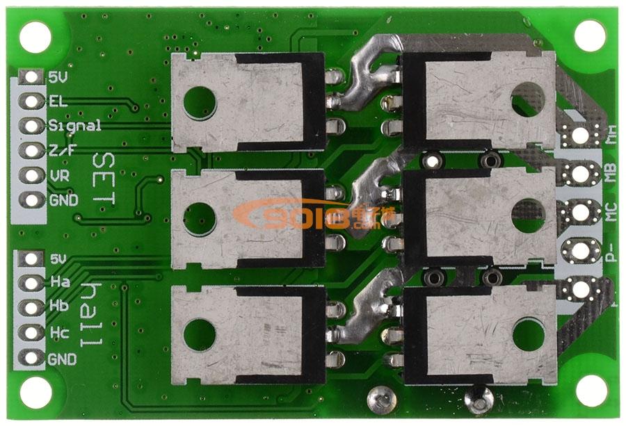 直流无刷电机驱动板 有感有霍尔马达控制器 PWM方波电子调速器