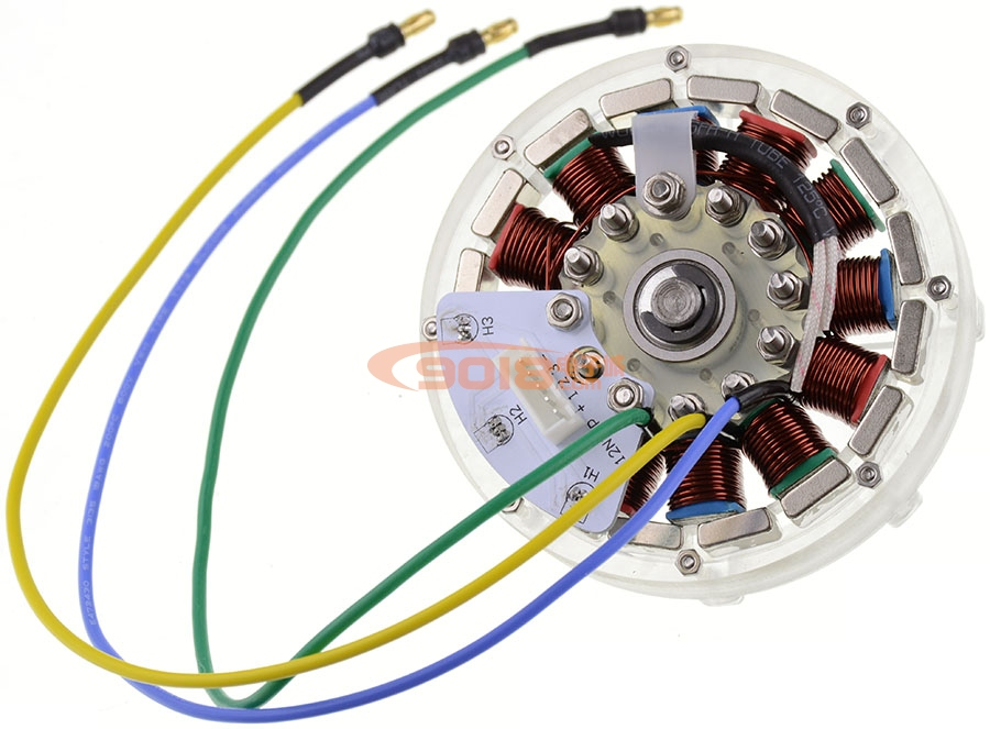 cnc版12n16p永磁外转子直流无刷电机 盘式扁平轮毂马达 已绕线 可带