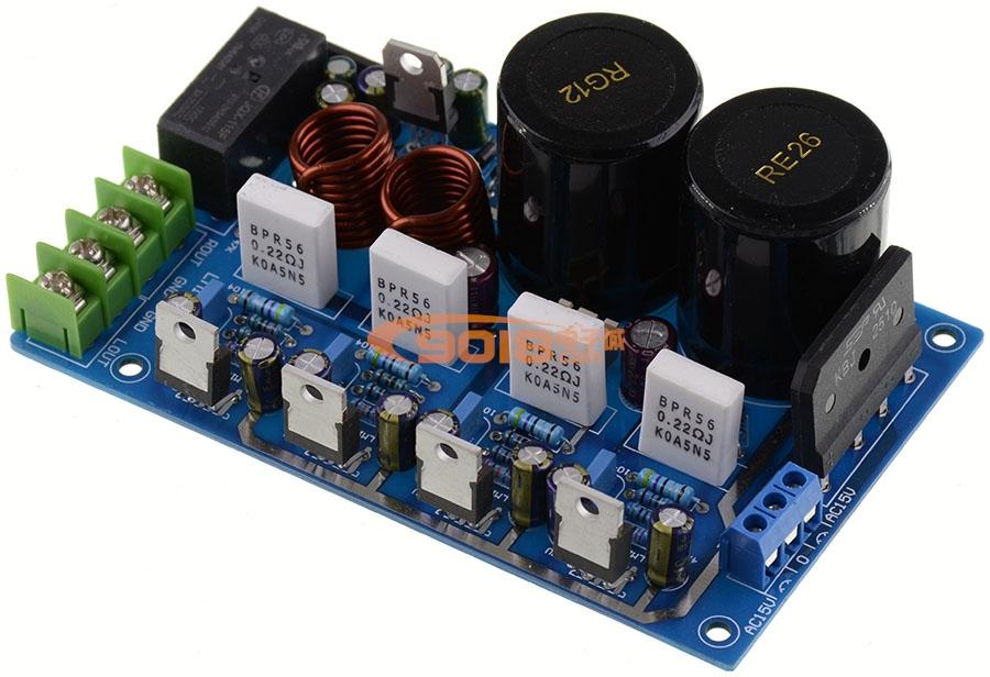 发烧音响 发烧电路 功放板 发烧lm1875并联2.0双声道功放板 50w 50w