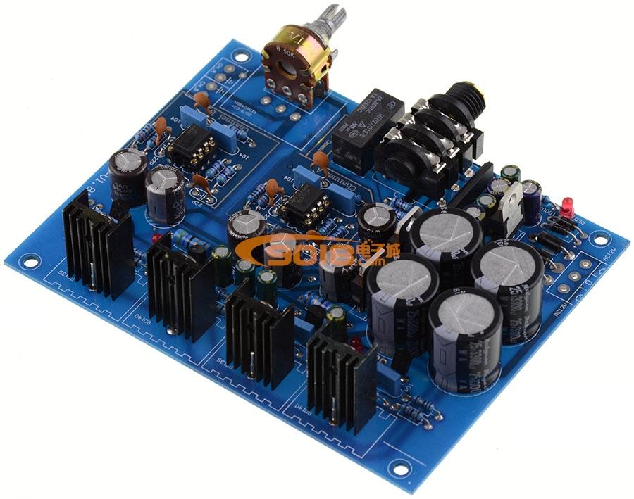 发烧电路 功放板 e3便携式耳放板 耳机放大板 bd139 bd140 ne5532