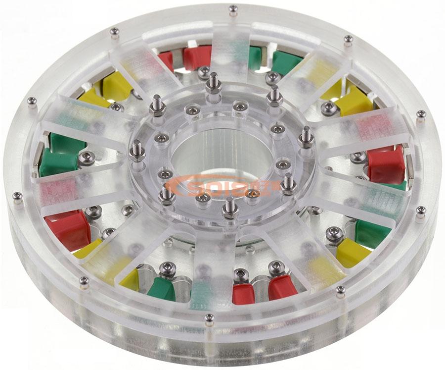 24N28P盘式永磁无刷电机发电机 空心轴 饼形扁平型大力矩马达 直径147*24MM