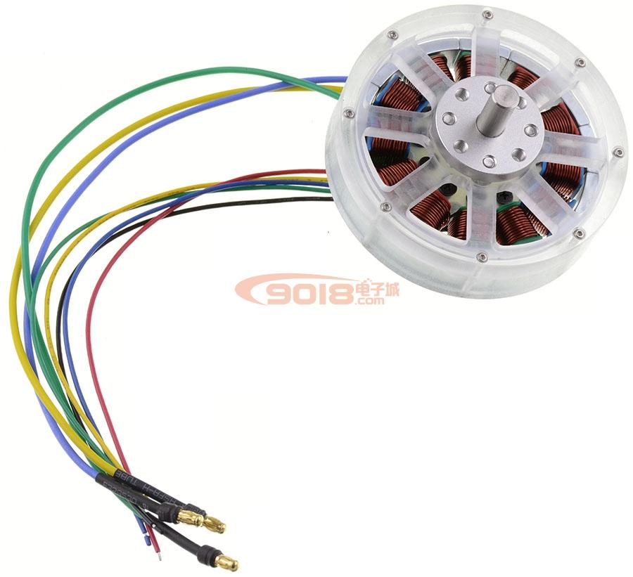 12N14P永磁直流无刷电机/马达 带霍尔 8MM不锈钢轴 已绕线 成品机