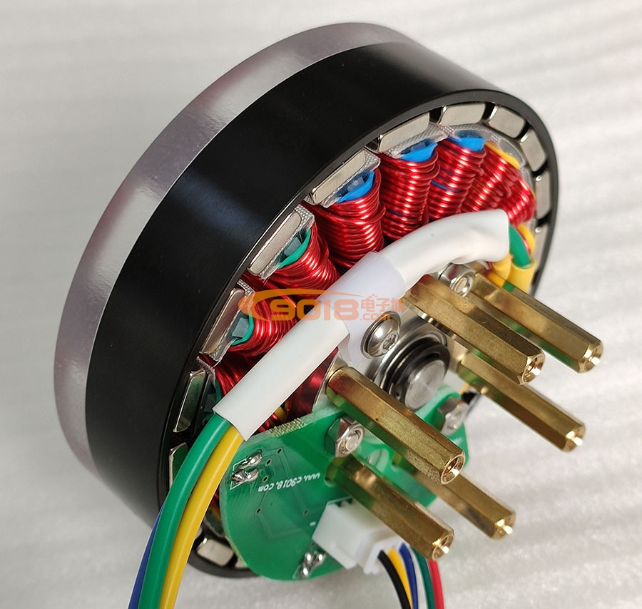 昊极100W盘式18N20P永磁三相直流无刷电机/马达 有感带霍尔