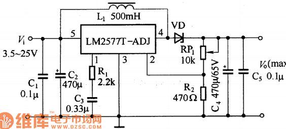 lm2577高效开关升压模块