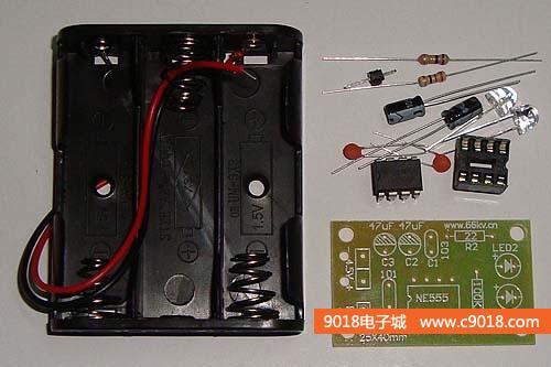 ne555触摸延时电路电子制作套件/散件(单稳态触发器电路教学套件)