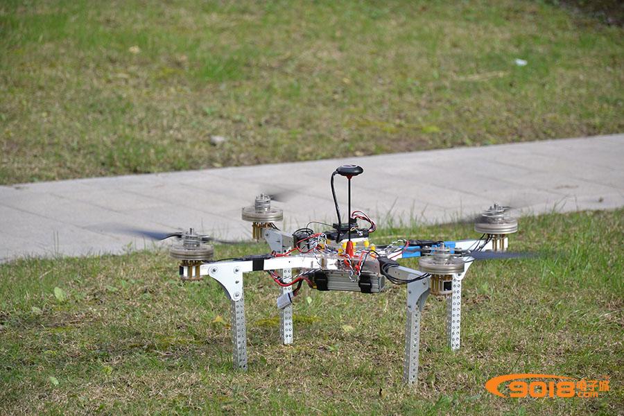 diy盘式电机+apm2.8飞控四轴/多旋翼无人机 大型航拍